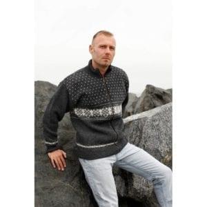 Fritidstøj Norwool Uldsweater med Windstopper