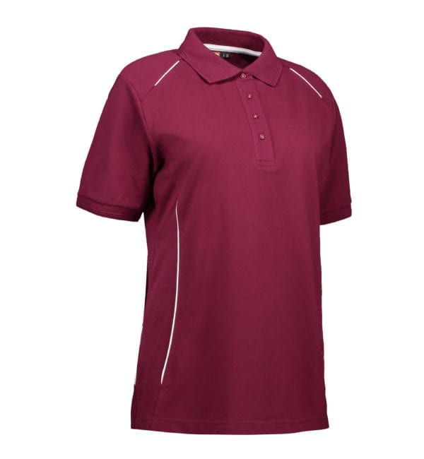 PRO wear dame poloshirt|piping