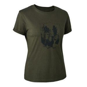 Fritidstøj Dame T-Shirt Med Skjold