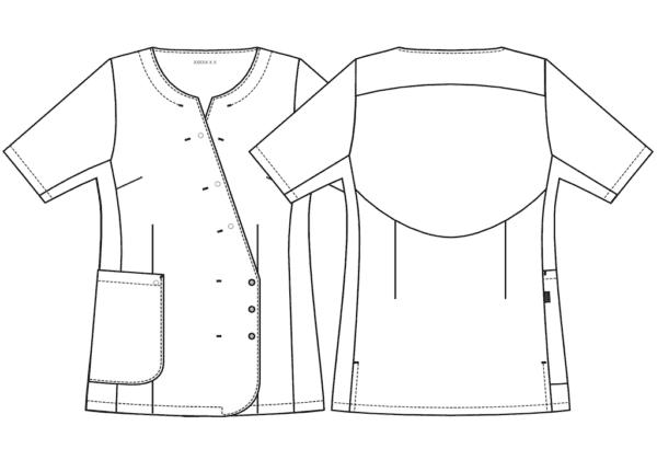 Arbejdstøj Kentaur Dameskjorte m. Kimono Front