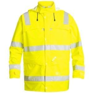 arbejds termo jakker og veste Safety EN ISO 20471 Regnjakke