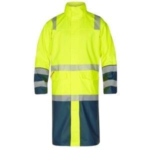 Arbejds overtøj Safety EN ISO 20471 Lang Regnjakke