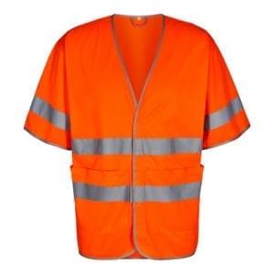 arbejds termo jakker og veste Safety EN ISO 20471 Vest Med Korte Ærme