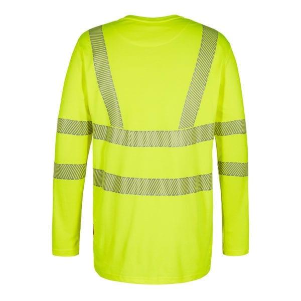 Arbejds T-Shirts F.Engel Safety EN ISO 20471 Langærmet T-Shirt m. V/Hals