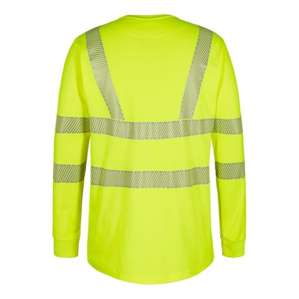 Arbejds T-Shirts F.Engel Safety EN ISO 20471 Langærmet T-Shirt m. Knapper
